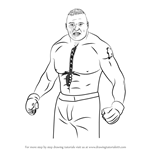 How to Draw Brock Lesnar