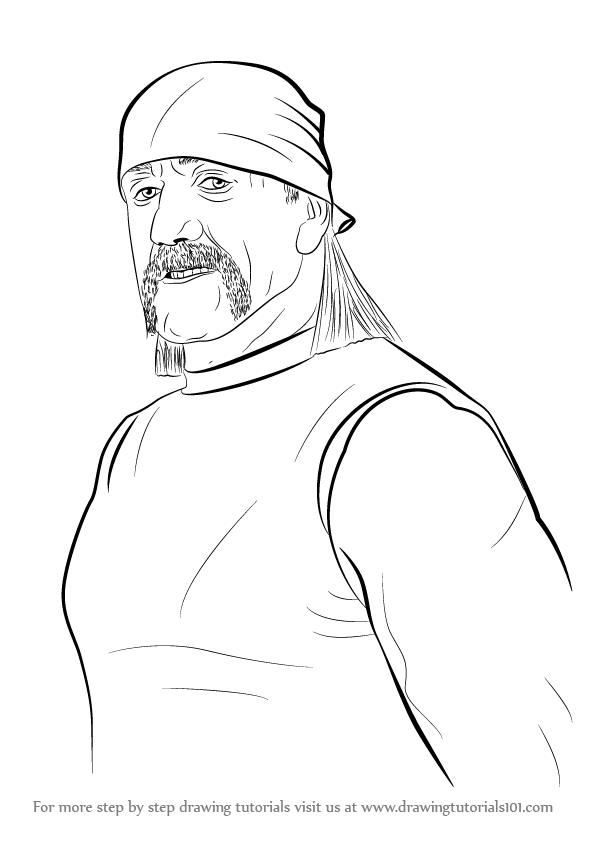 learn how to draw hulk hogan wrestlers step by step drawing tutorials