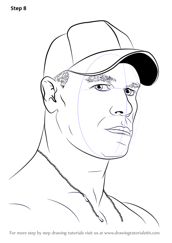 Learn How To Draw John Cena Wrestlers Step By Step