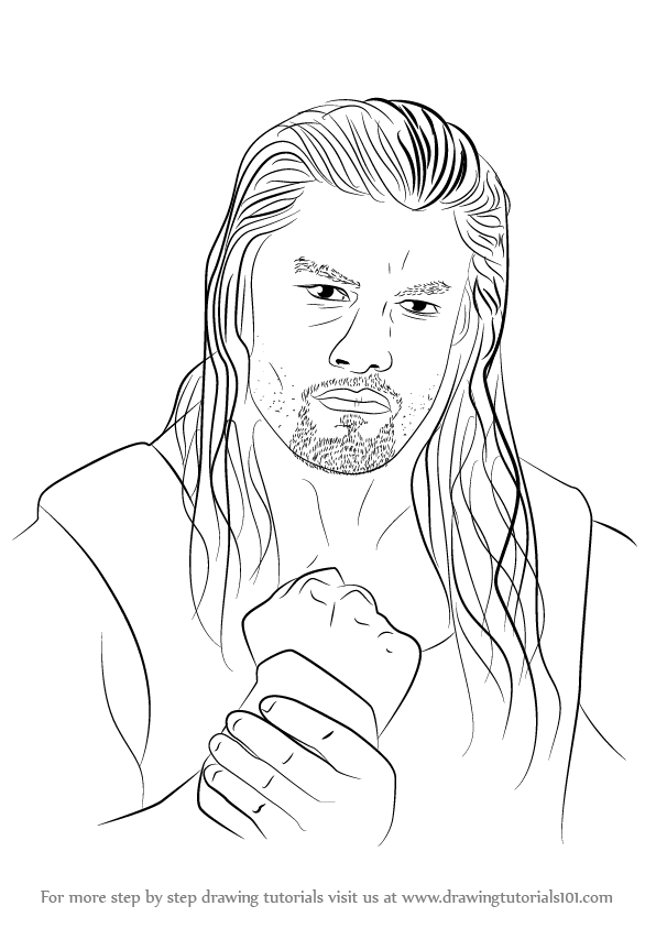 how to draw wwe wrestlers step by step