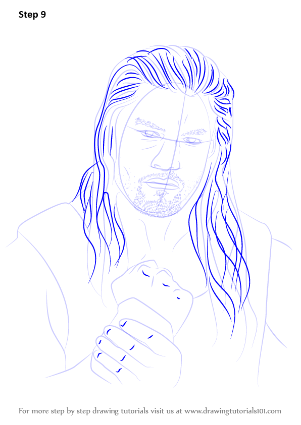 Learn How To Draw Roman Reigns Wrestlers Step By Step