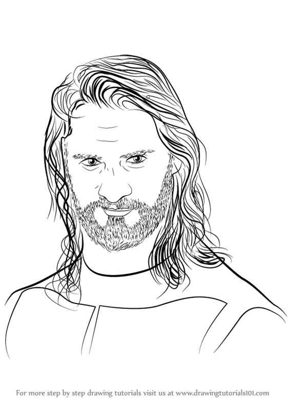 learn how to draw seth rollins wrestlers step by step drawing