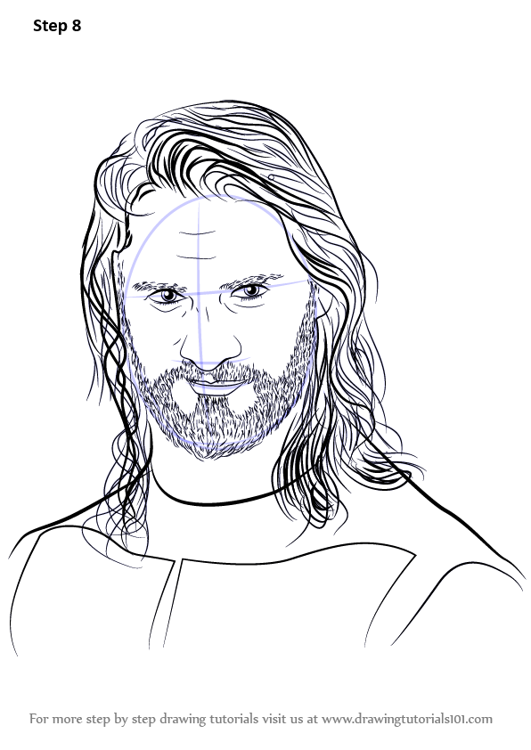 Learn How To Draw Seth Rollins Wrestlers Step By Step Drawing Tutorials