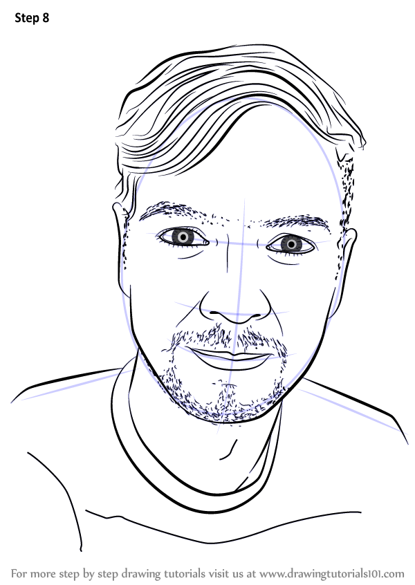 Learn How To Draw Jacksepticeye Youtubers Step By Step