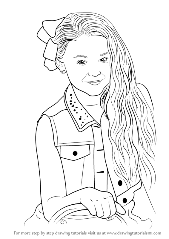 Step by Step How to Draw Jojo Siwa