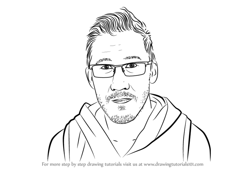 Learn How To Draw Markiplier Youtubers Step By Step