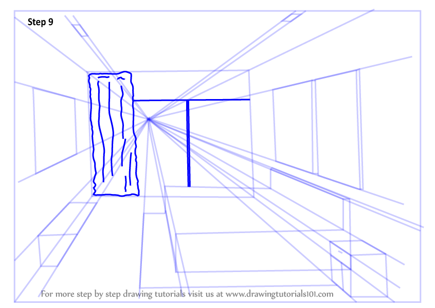 Learn How To Draw One Point Perspective Bedroom One Point