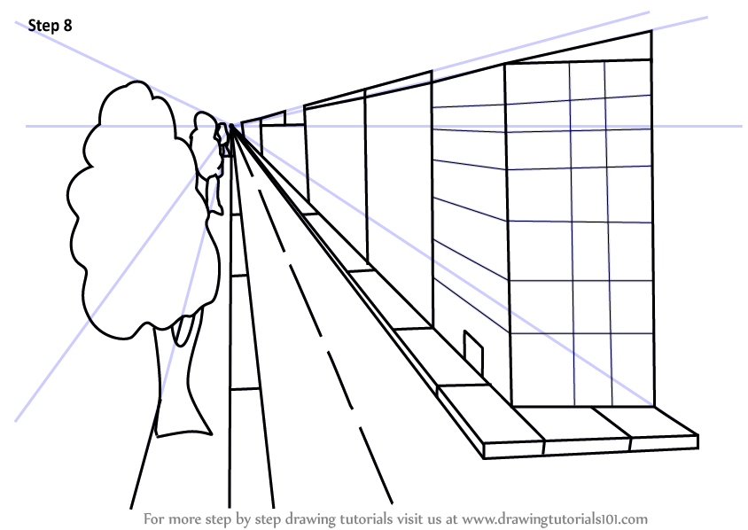 Learn How To Draw One Point Perspective Buildings One