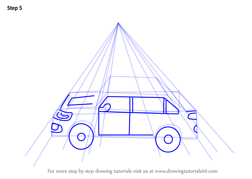 Learn How To Draw One Point Perspective Car One Point
