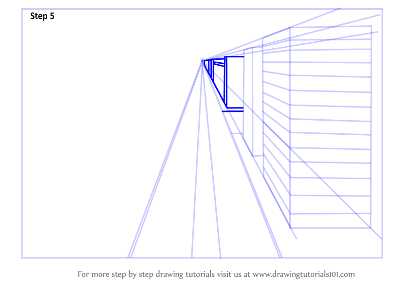 Learn How To Draw One Point Perspective City One Point