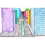 How to Draw One Point Perspective City