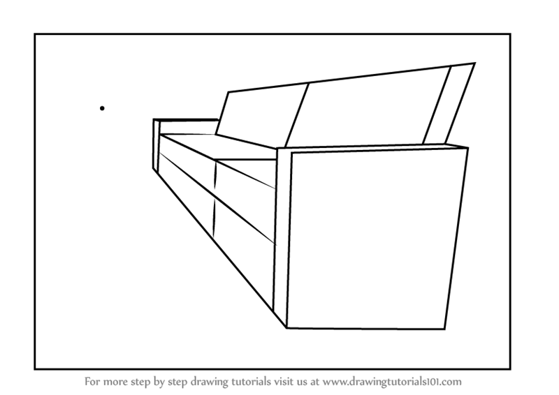 Learn How To Draw One Point Perspective Couch One Point