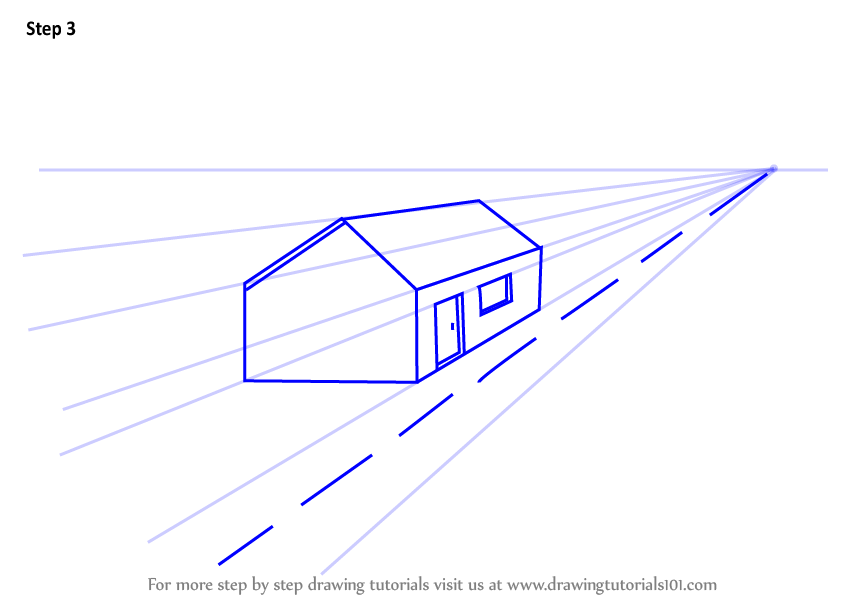 Learn How To Draw One Point Perspective House One Point