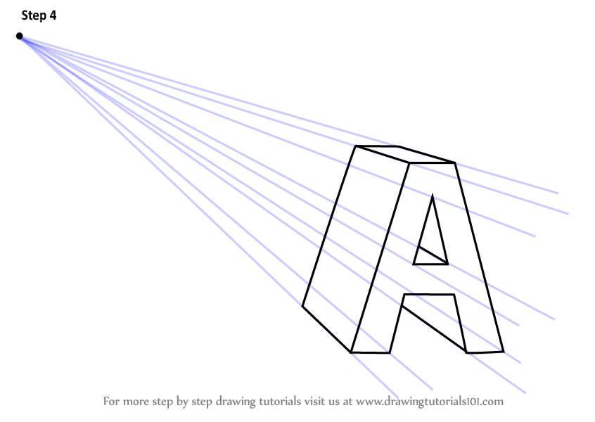 Learn How To Draw One Point Perspective Letter One Point