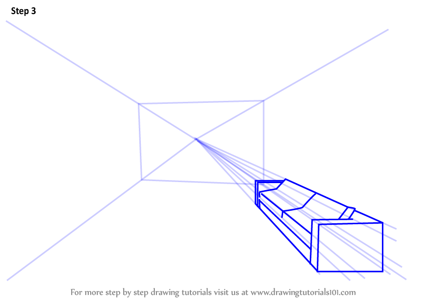 Learn How To Draw One Point Perspective Room One Point