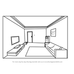 How to Draw One Point Perspective Room