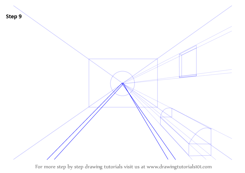 Drawing Lines Using Xbox One : Learn how to draw a room using one point perspective