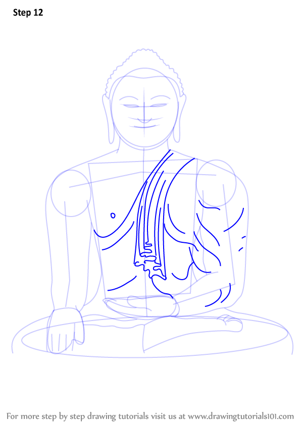 learn how to draw a buddha meditating  buddhism  step by