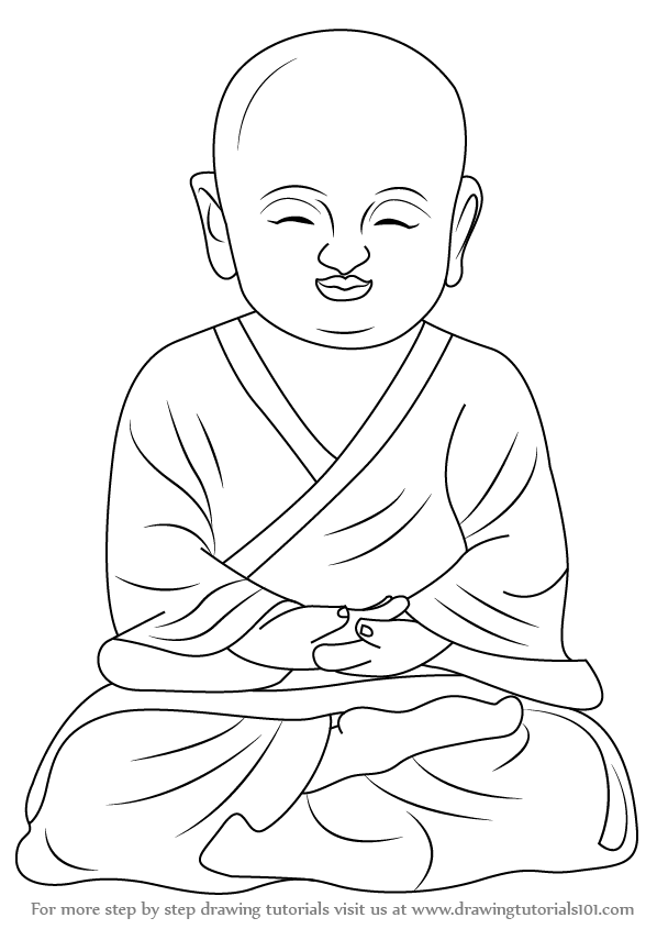 Adventure Bonnie Kleurplaat Learn How To Draw A Child Buddha Buddhism Step By Step