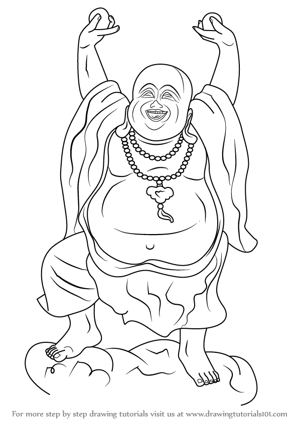 fat buddah coloring pages - photo#26