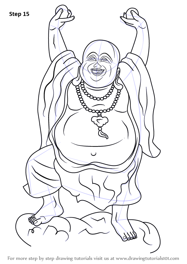 Learn How To Draw A Laughing Buddha Buddhism Step By