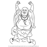 How to Draw a Laughing Buddha