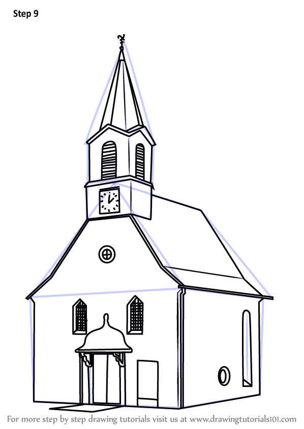 Learn How to Draw a Church Building