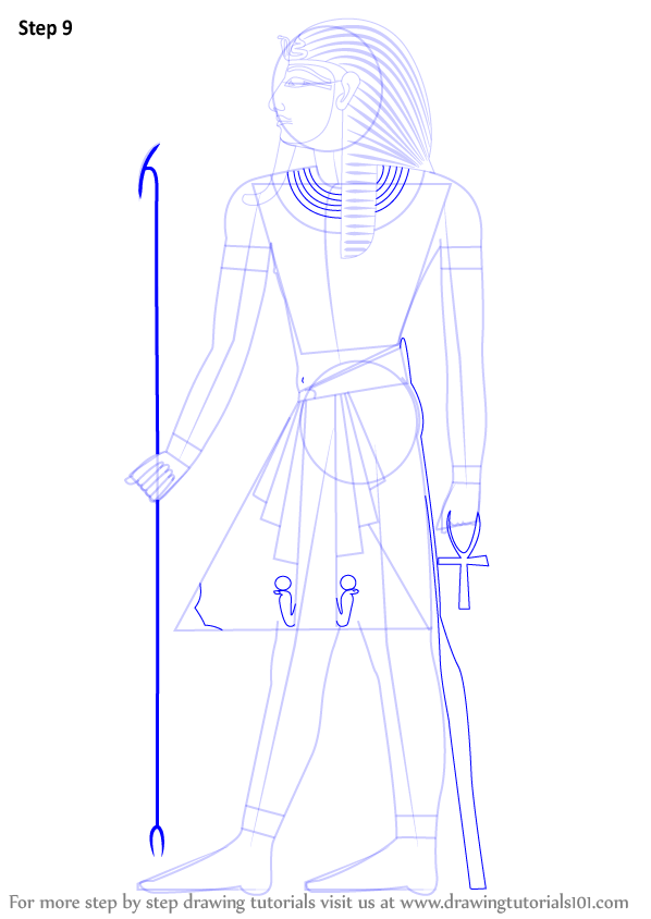 Bedroom Drawing: Step By Step How To Draw A Pharaoh : DrawingTutorials101.com