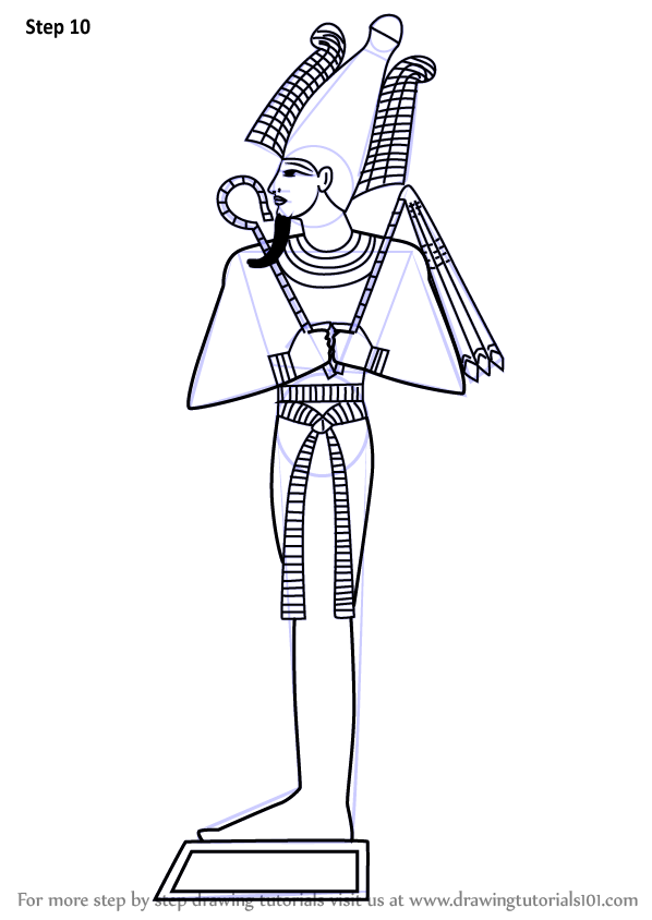 Learn How to Draw Osiris (Egyptian Gods) Step by Step ...