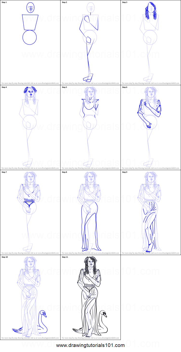 How to Draw Aphrodite Goddess printable