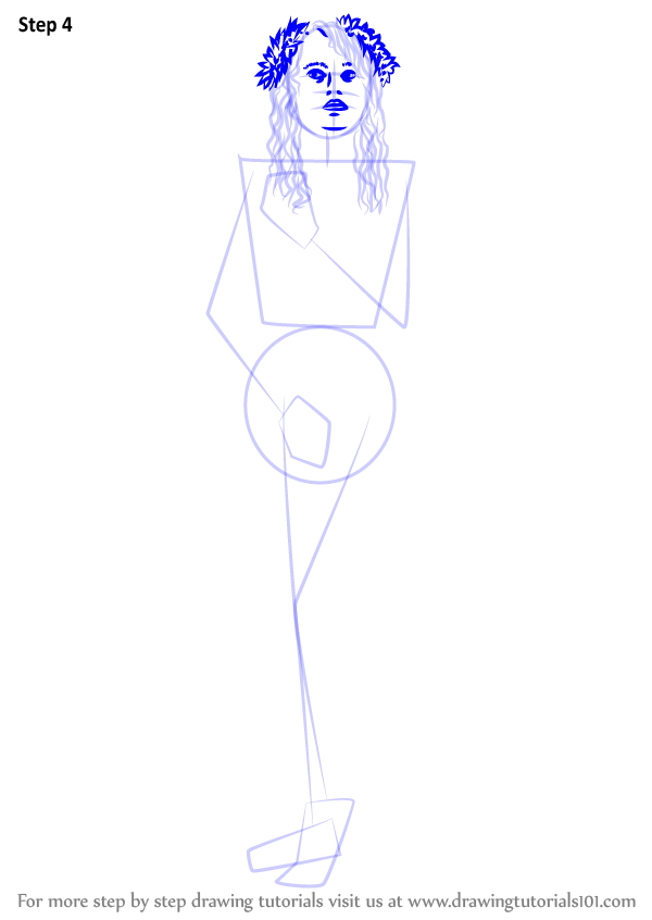 learn how to draw aphrodite goddess  greek gods  step by step   drawing tutorials