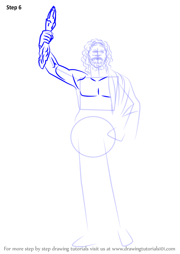 Learn How To Draw Zeus Greek Gods Step By Step Drawing Tutorials