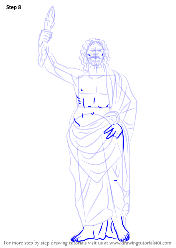Learn How to Draw Zeus (Greek Gods) Step by Step : Drawing ...