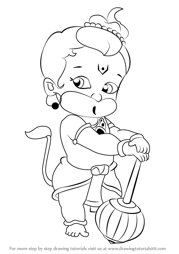 Hanuman Pencil Coloring Pages