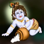 How to Draw Baby Lord Krishna