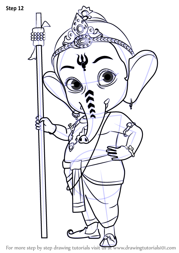 Learn How To Draw Bal Ganesh Hinduism Step By Step