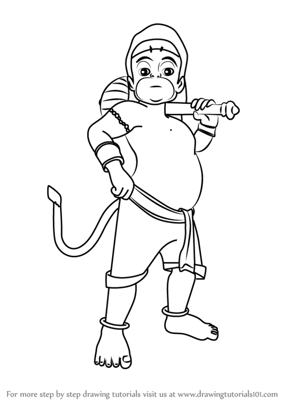 Learn How To Draw Bal Hanuman (Hinduism) Step By Step  Drawing Tutorials