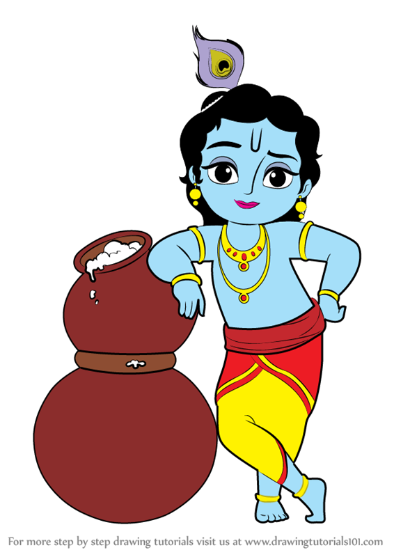 Learn How To Draw Bal Krishna Hinduism Step By Step Drawing Tutorials