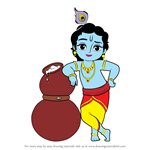 How to Draw Bal Krishna