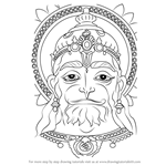 How to Draw Hanuman Face