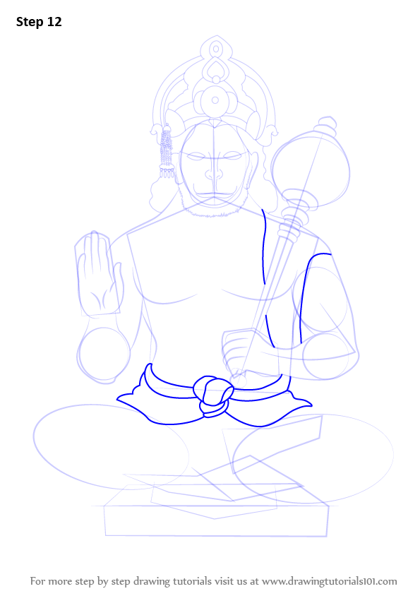 learn how to draw lord hanuman  hinduism  step by step