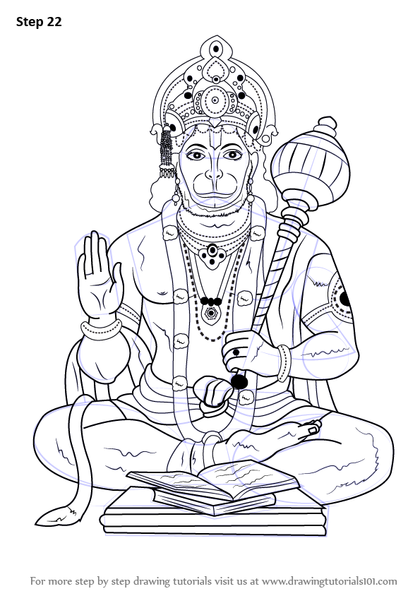 Learn How to Draw Lord Hanuman (Hinduism) Step by Step ...