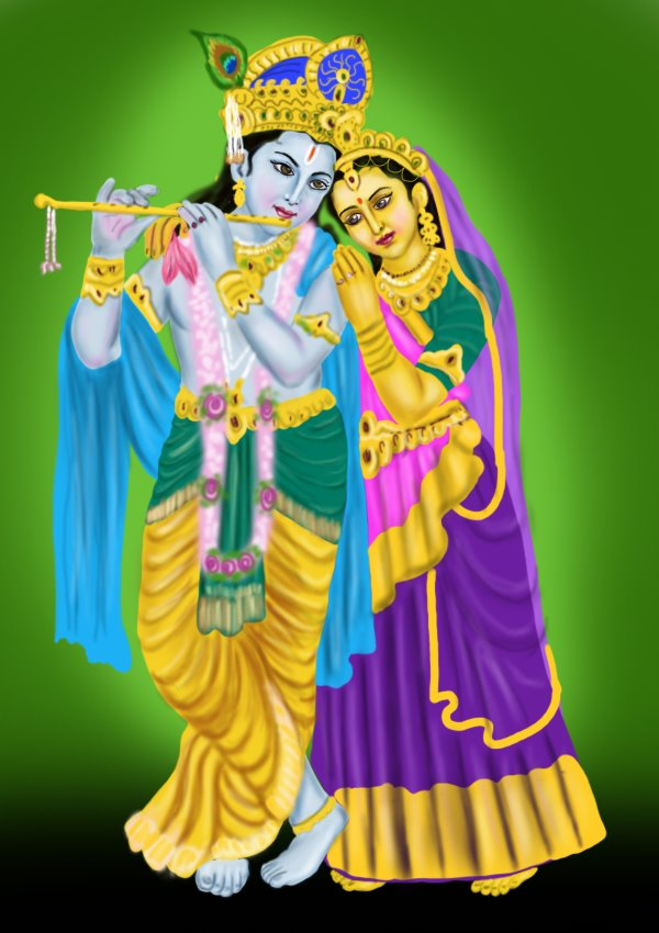 Learn How To Draw Krishan With Radha Hinduism Step By Step Drawing Tutorials