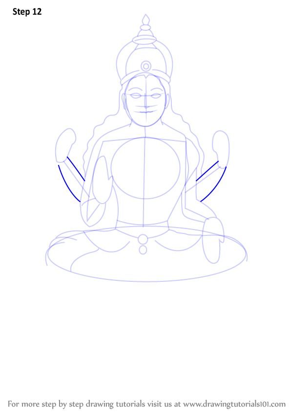 Learn How To Draw Lakshmi Mata  Hinduism  Step By Step