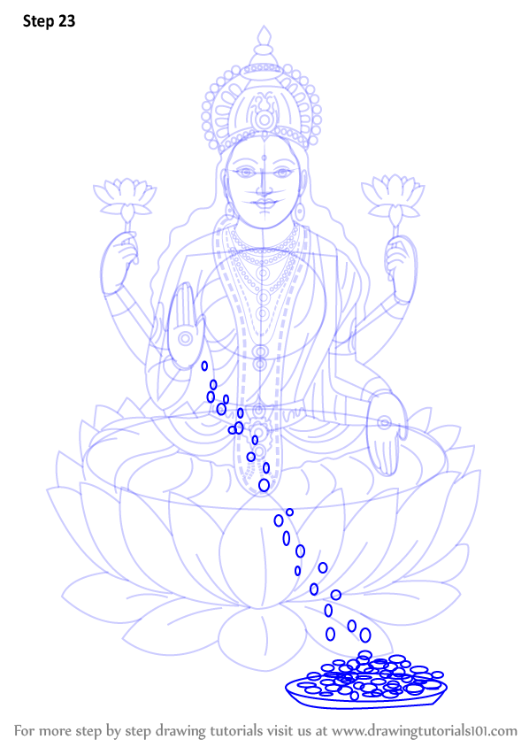 Learn How To Draw Lakshmi Mata Hinduism Step By Step Drawing Tutorials Mata laxmi picture, images & wallpaper free download. learn how to draw lakshmi mata