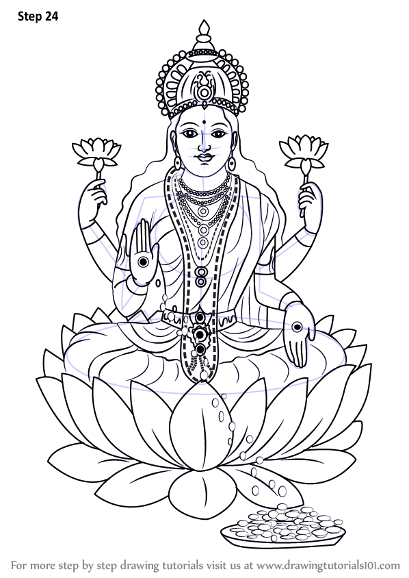 Lord vishnu coloring coloring pages for Lakshmi coloring pages