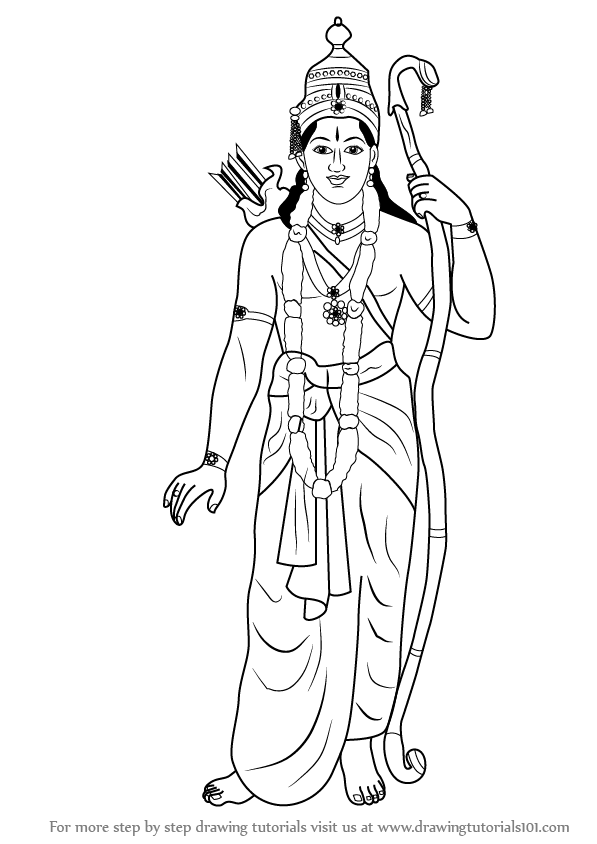 Learn How to Draw Lord Rama Hinduism