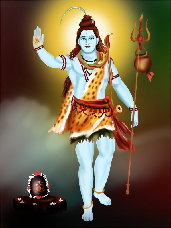 Learn How To Draw Lord Shiva Standing Hinduism Step By Step