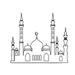 How to Draw a Beautiful Mosque