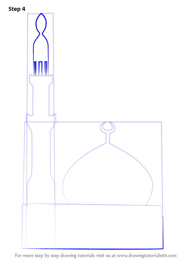 Learn How To Draw A Simple Mosque Islam Step By Step